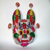 Tiger face wall hangings clay sculpture folk handicrafts fengxiang Shaanxi China