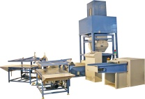 Pillow & cushion automatic weighing & filling line