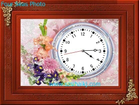 Three-dimensional wall clock ,Clock,Three-dimensional painting