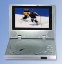 Multimedia Portable DVD player, 7 Inches TFT LCD Screen, 5 in 1, DVD/Game/USB/MPEG4/Card Reader