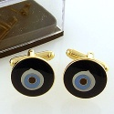 Gold Plated Evil Eye Cufflink - GCUFFLINKS