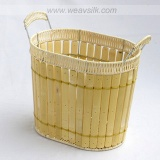 rattan bamboo baskets, wicker basketry