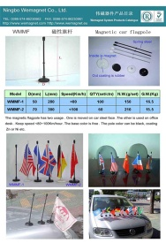 Magnetic flagpole