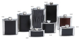 Hip Flask with PU Cover and Incused Patten