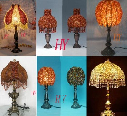 Glass hand painting lamp Color Glass Bead lampshade Crystal Decoration and Decoration fittings