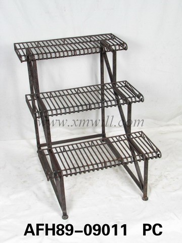 Iron Metal Plant Stands Holder Patio Outdoor Garden