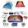 camping tent with flexible solar panel