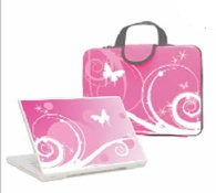 Laptop/Notebook Anti-Shock Sleeve Carrying Case and Skin Sticker  - YQ001
