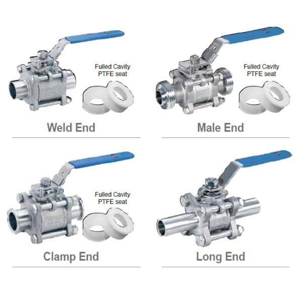 Sanitary Hygienic Fitting Valves - Sanitary Ball Valve for Food