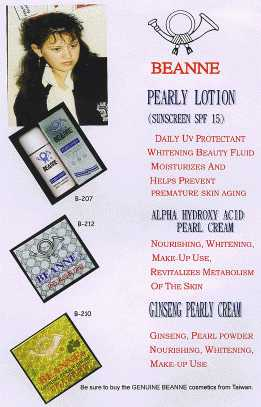 Pearly Lotion(Sunscreen SPF 15) / Alpha Hydroxy Acid Pearl Cream / Ginseng Pearly Cream - P01