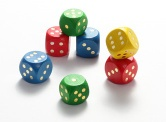 Wooden Dice with Dot/Color Dot/Number/Alphabet/opperation - Dice