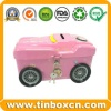 Metal tin coin bank with lock saving money box for gift - BR1901