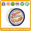 Round Metal Tin Can Butter Cookies Tin Box - BR1419