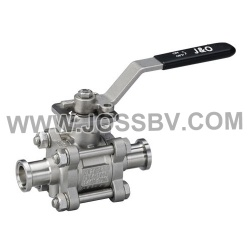 Three-Piece Sanitary Ball Valve Tri-Clamp With High Cycle Direct Mount - NO. JOBV-1005