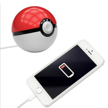 christmas sale 8000mah led projection pokeball magic ball pokemon go power bank - LT-PP01