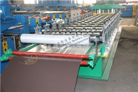 Adjustable Red Metal Door Frame Making Machine - Door Frame Making Ma