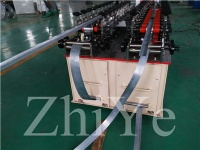 Iron Roofing sheet storage rack upright shelf roll forming machine manufacturer - upright shelf roll f