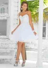 A-line Sweetheart Tulle Homecoming Dress with Beads and Seuqins - SOD0507