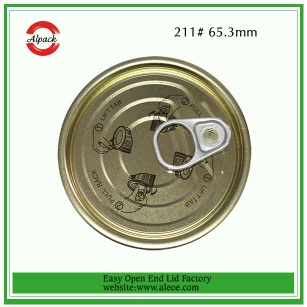 Tin Can Lid Easy Open End - food lid