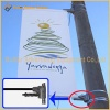 Metal Street Pole Advertising Banner Mechanism