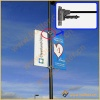 Metal Street Light Pole Advertising Banner Sign Stand