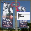 Metal Street Light Pole Advertising Banner Base