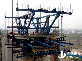 cantilever form traveler for continous prestressed concrete bridge formwork steel formwork - BY-III