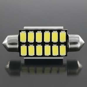 41MM Blue 12 LED Vehicle Interior Light License Plate Light SMD 5730 - domelight-01