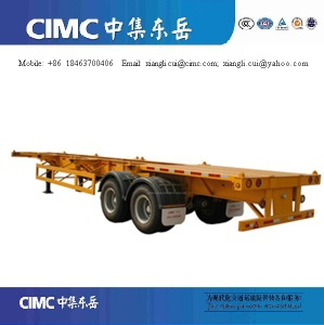 2 axles 40 ft container skeletal semi trailers - container skelatal
