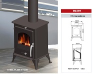 DL007 wood burning stove/ steel sheet stove