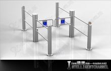 Column type Flap barrier Turnstile for supermarket.ADA passthru - CXTB130M