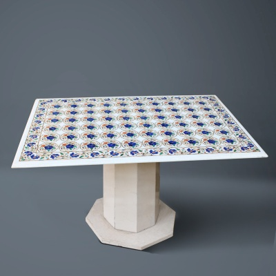 HANDCRAFTED MARBLE INLAY TABLE TOP - SFI