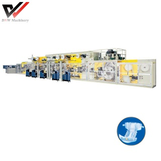 Full Frequency I Shape Baby Diaper Production Line - baby diaper machine
