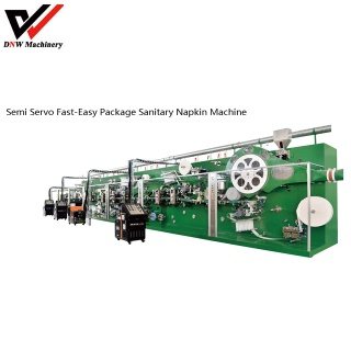 Semi Servo Fast-easy Package Sanitary Napkin Production Line - napkin machine