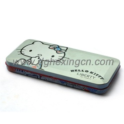 Wholesale hello kitty metal pencil case for kids - tin pencil case