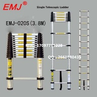 EMJ 3.8m single telescopic ladder - EMJ020S(3.8M)