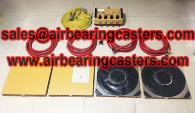 Air skates for moving machine is very convenient - aircasters