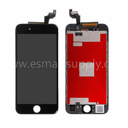 For Apple iPhone 6S LCD Screen and Digitizer Assembly with Frame Replacement - Black - Grade S+ - iphone 6s LCD screen