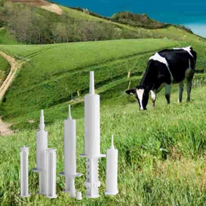 plastic paste syringes for cow mastitis and equine - G004