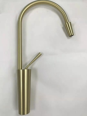 High Quality Brush Golden Finish Kitchen Mixer - Faucet for Kitchen