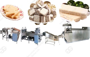 63Mould Electric Heating Wafer Biscuit Production Line - wafer making machine