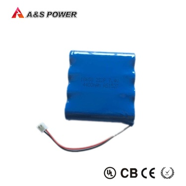 High quality 18650 recharge lithium ion battery 18650 7.4v 4400mah 2s2p - 18650 battery