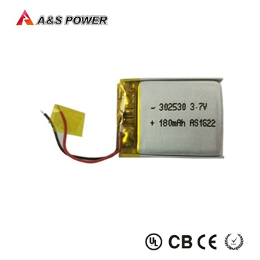 302530 3.7v li-ion polymer battery 180mah rechargeable lithium battery - 302530