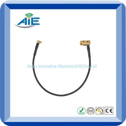 RF reserve polarity right angle sma male  to MMCX flexible cable - AIE-RP/SMA M-MMCX