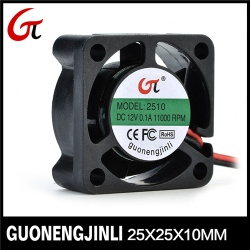 Manufacture selling 12v dc 2510 cooling fan notebook fan car fan - GNJL2510