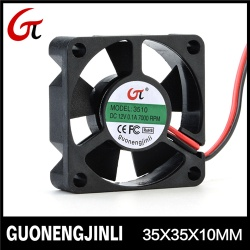 Manufacture selling 12v 3510 green axial cooling fan with fireproof for Intelligent PTZ heat - GNJL3510