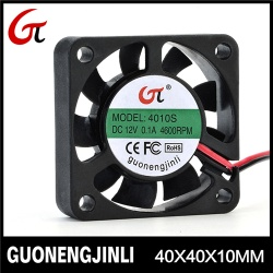 Manufacture selling 12V 4010 dc led cooling fan with high temperature resistant - GNJL4010