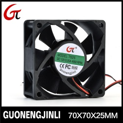 Manufacture selling 12V 7025 dc cooling fan with low noise for inverter - GNJL7025
