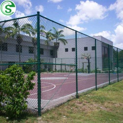 PVC coated green and black chain link fence for farm - Chain link fence 1