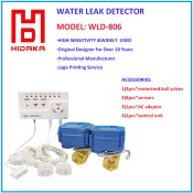 newest water leak detector in alarm with automatic water shut off valve - WLD806